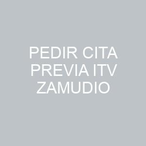 Pedir Cita previa ITV Zamudio